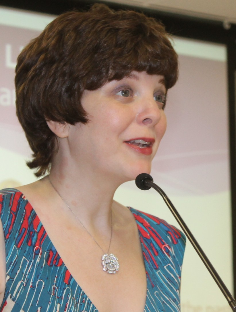 Katherine Kellgren performs at the East Meadow Public Library 2015