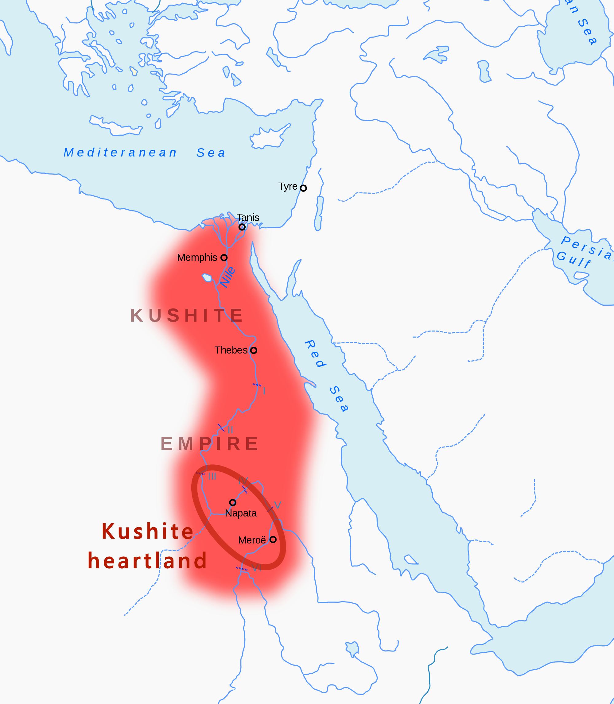 Kush Africa Map Kingdom of Kush   Wikipedia