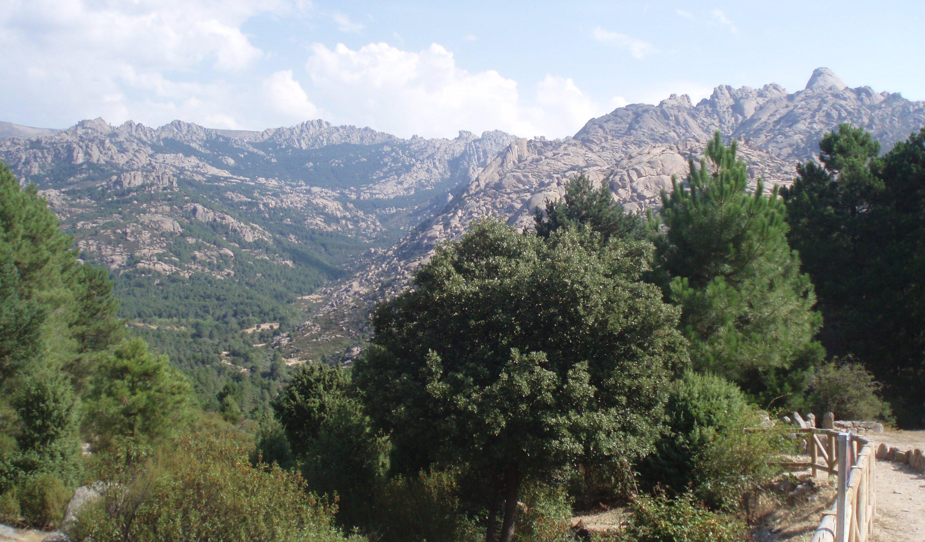 Vista general de La Pedriza.