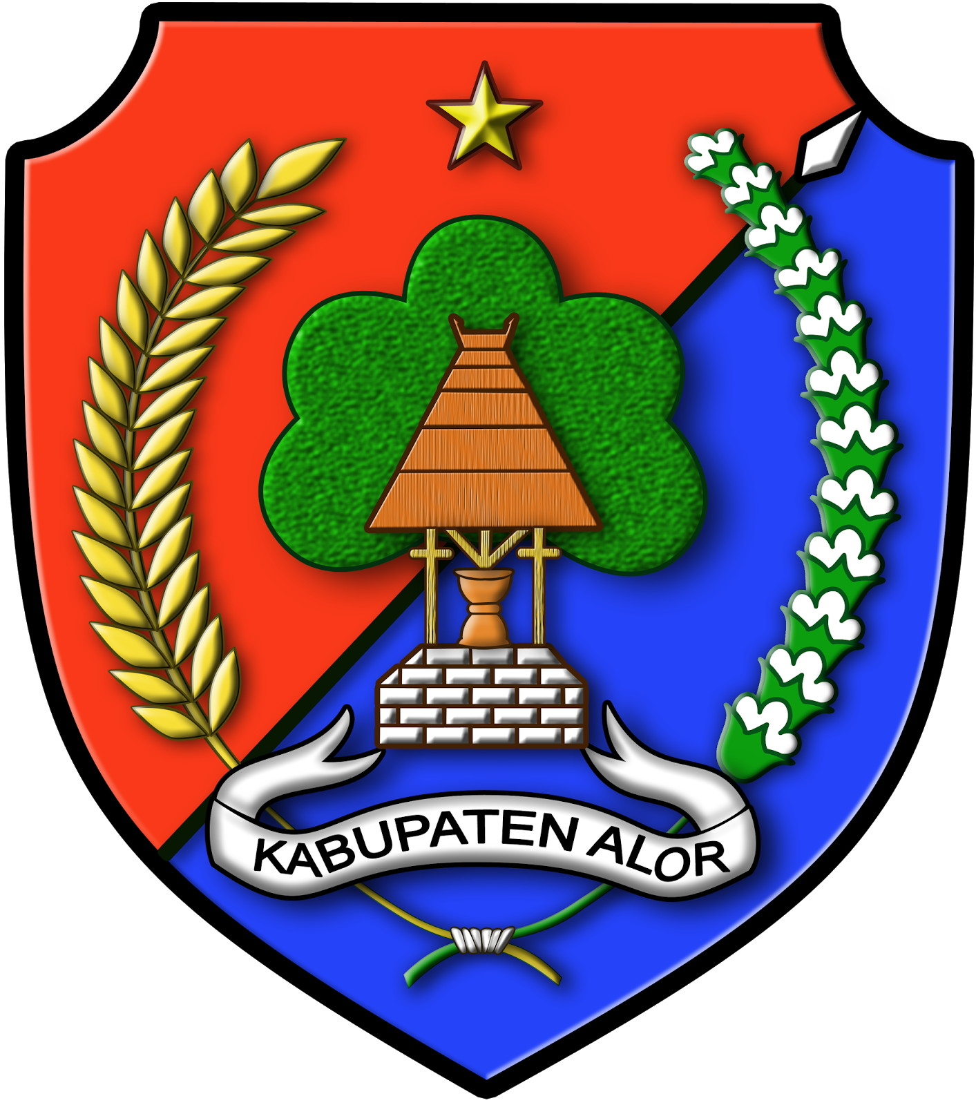 Official seal of Alor Regency