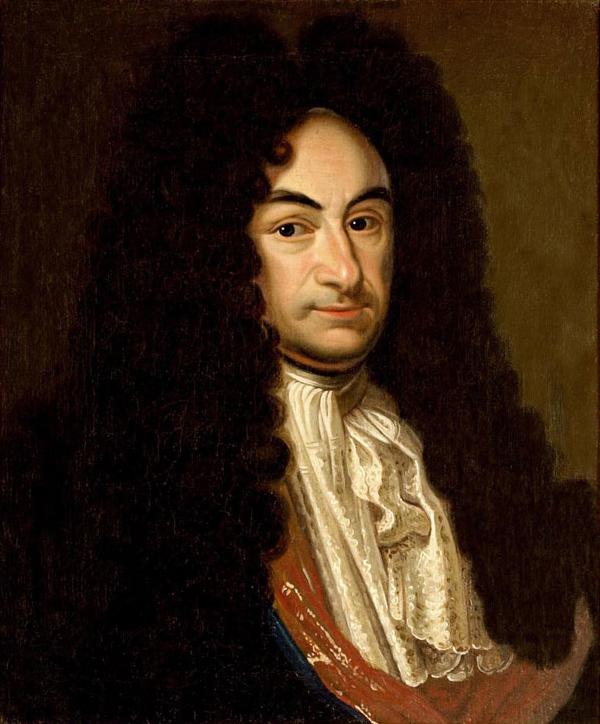 Ritratto di Gottfried Wilhelm von Leibniz conservato presso la Biblioteca regionale di Hannover.