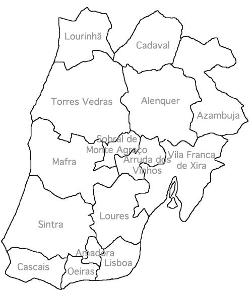 mapa concelhos do distrito de lisboa Lisboa (distrito)   Wikiwand mapa concelhos do distrito de lisboa