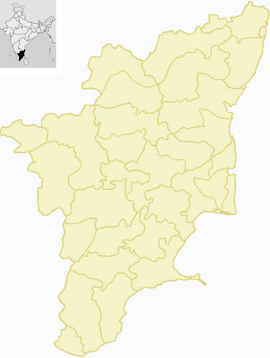 File:Locator Map Tamil Nadu + District borders png
