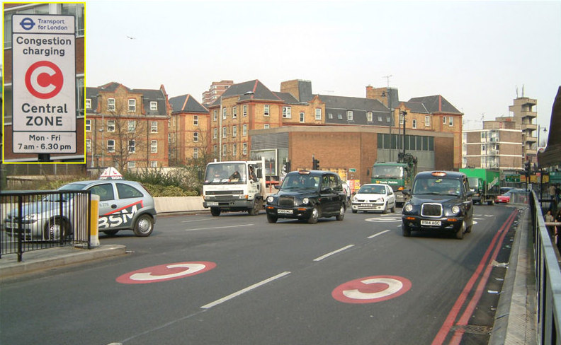 Congestion cordon in London--wikipedia photo