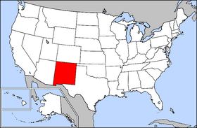 Map of the United States with New Mexico highlighted