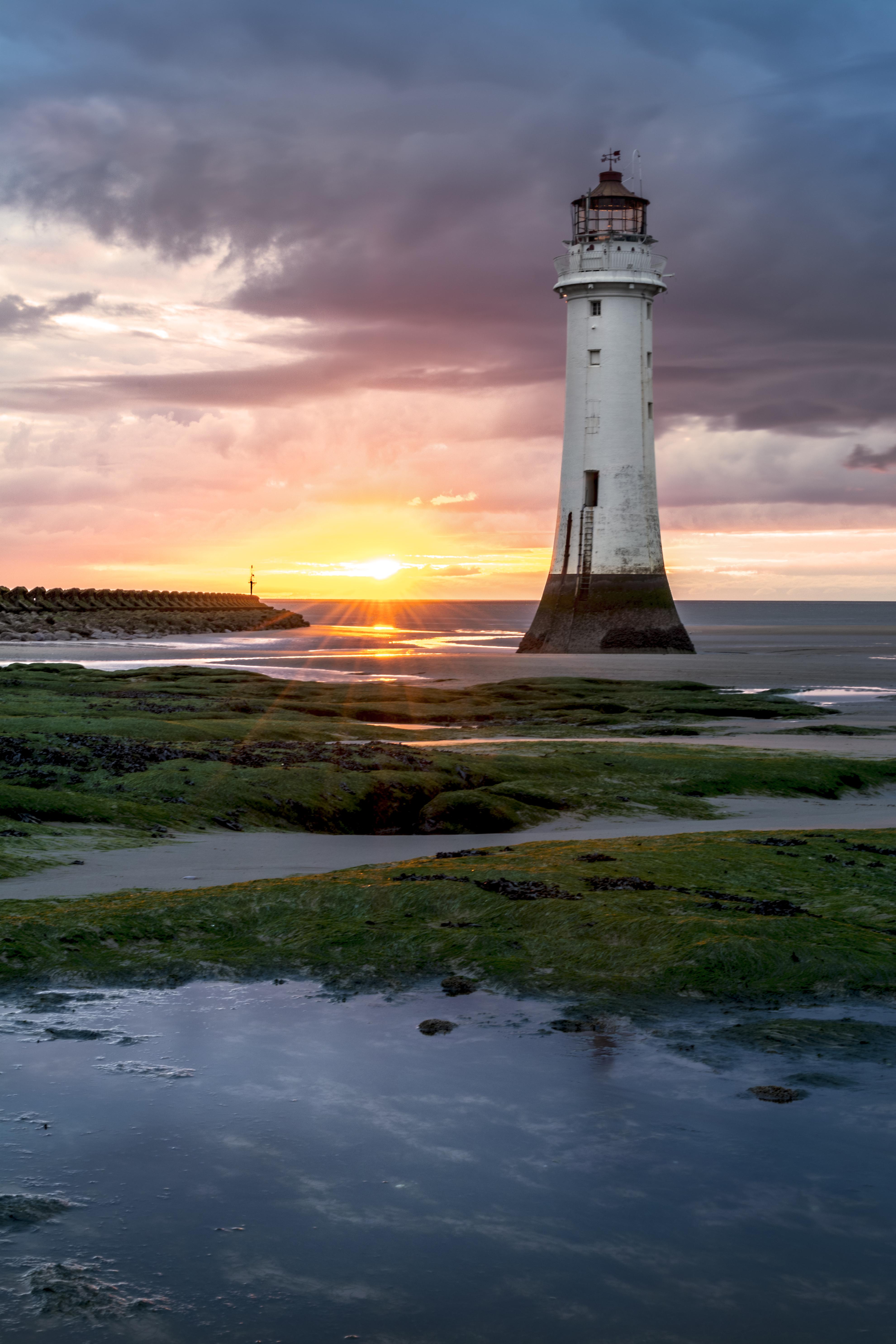 File New Brighton Lighthouse Perch Rock Jpg Wikimedia Commons