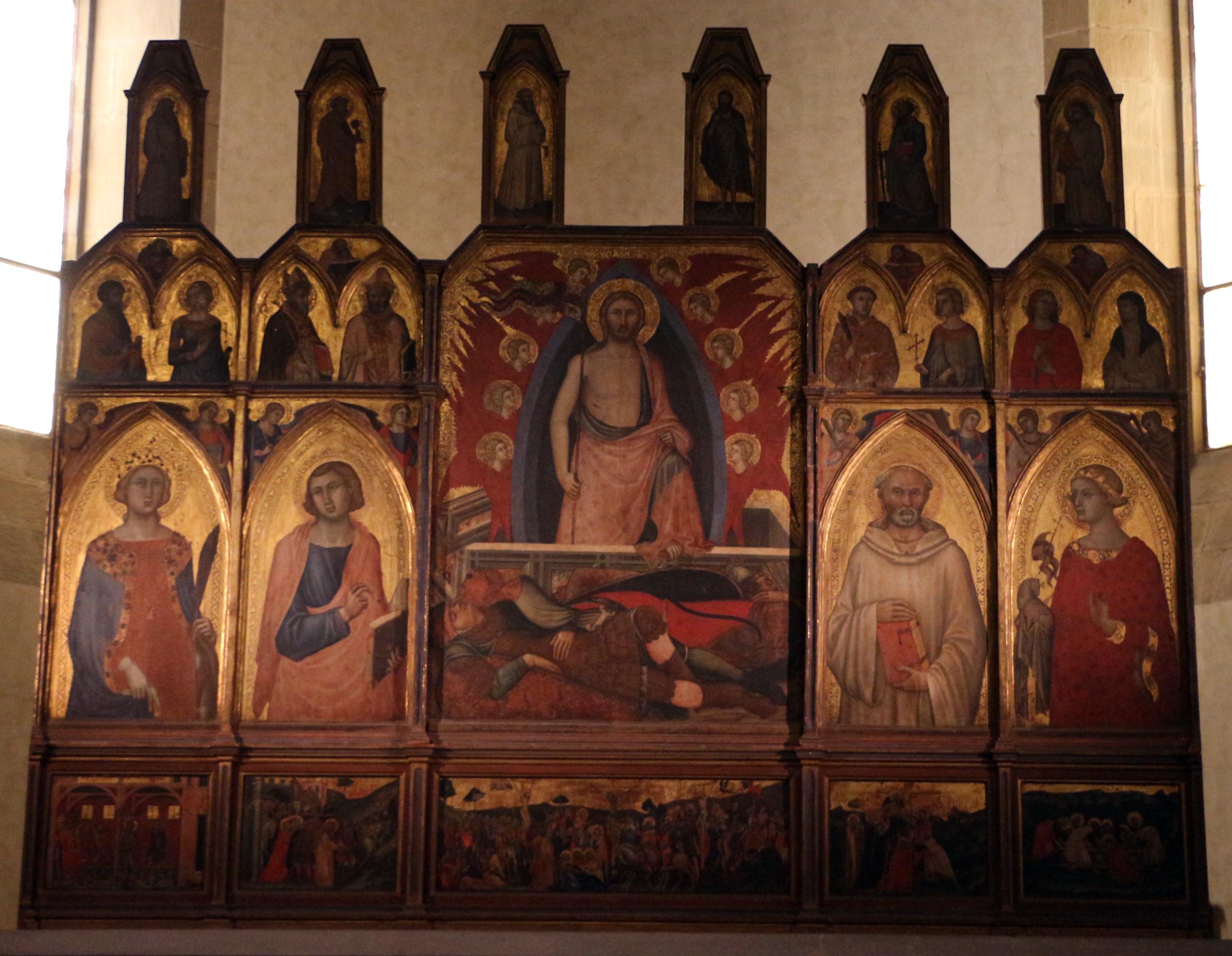 Niccolò di segna, polittico della resurrezione, 1348 circa