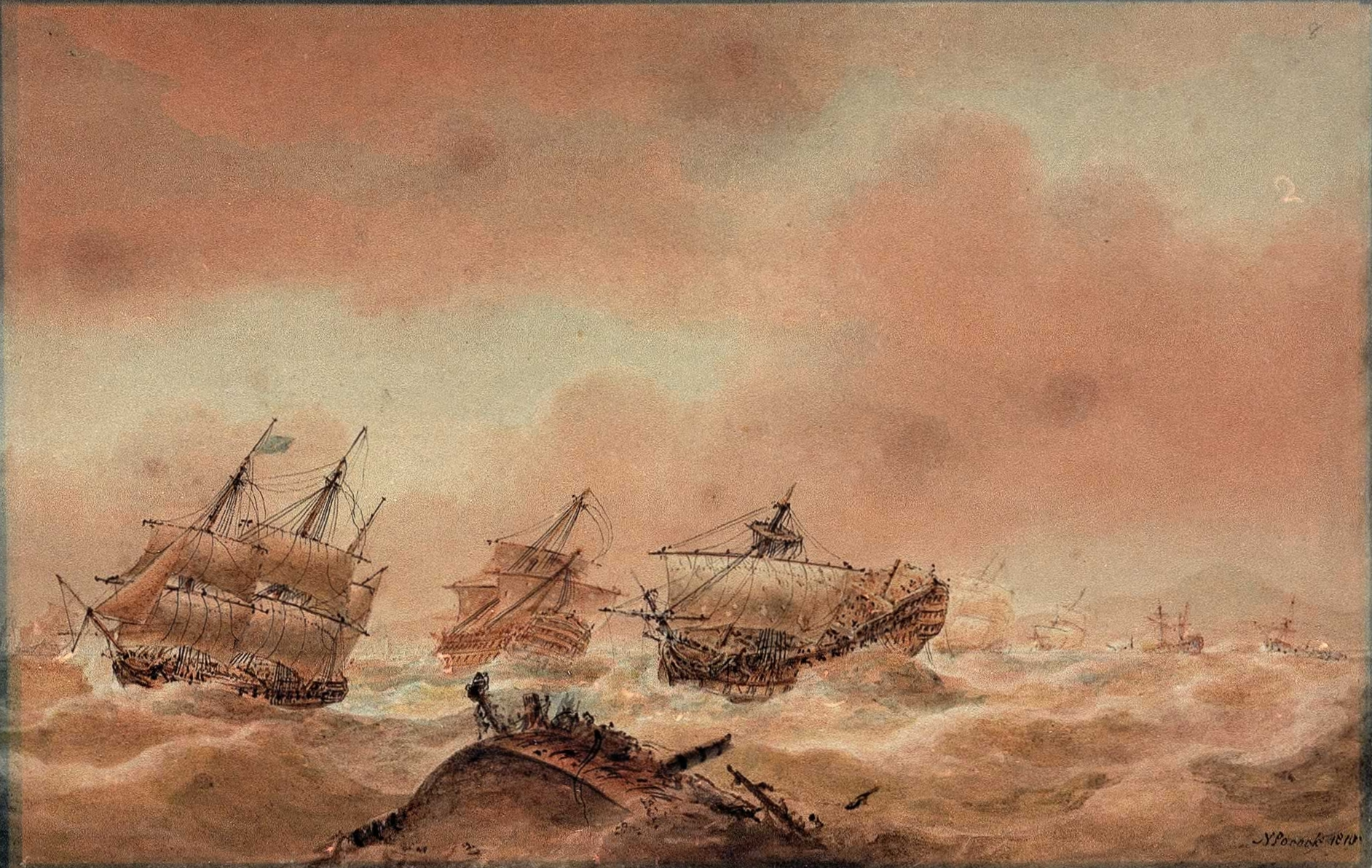 Nicholas_Pocock,_The_Day_after_Trafalgar