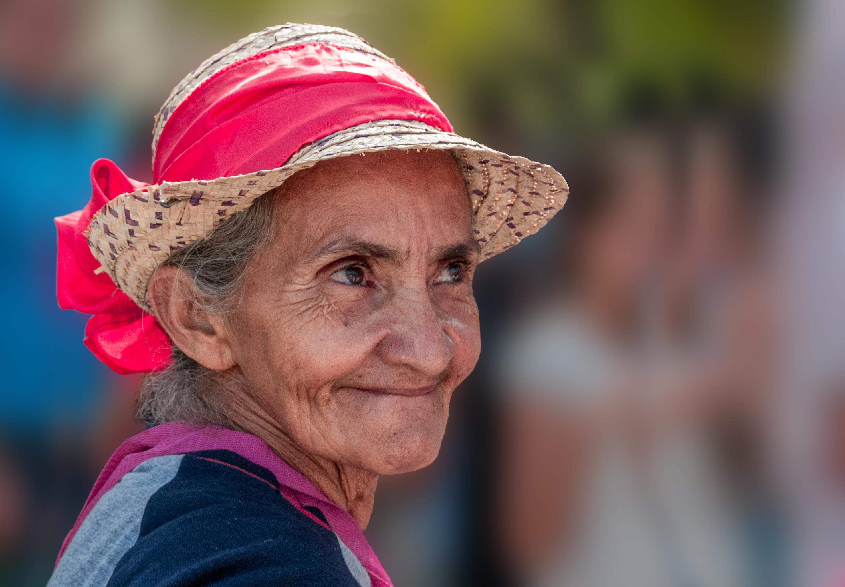 Old lady on beach