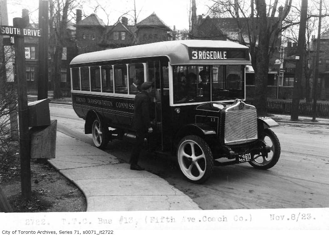 File:Old TTC Rosedale bus, City of Toronto Archive, series 71, item
