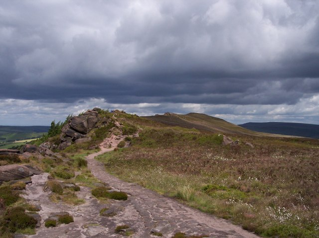 Paved path on the Roaches - geograph.org.uk - 852839