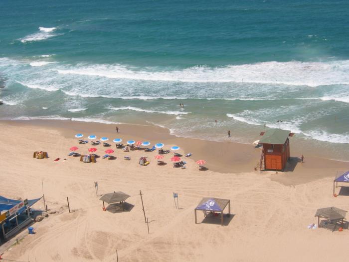 חוף השמשיות בבת-ים מבט מלמעלה
