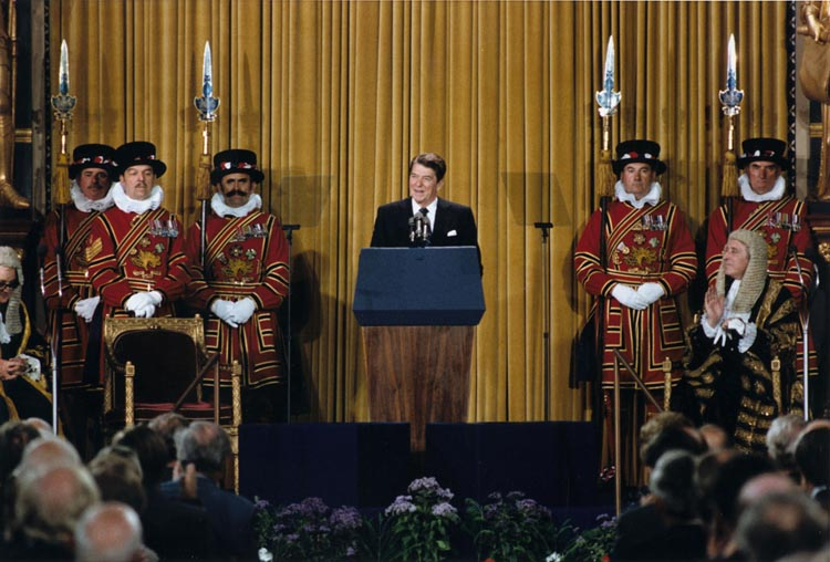 File:President Reagan addressing British Parliament, London, June ...