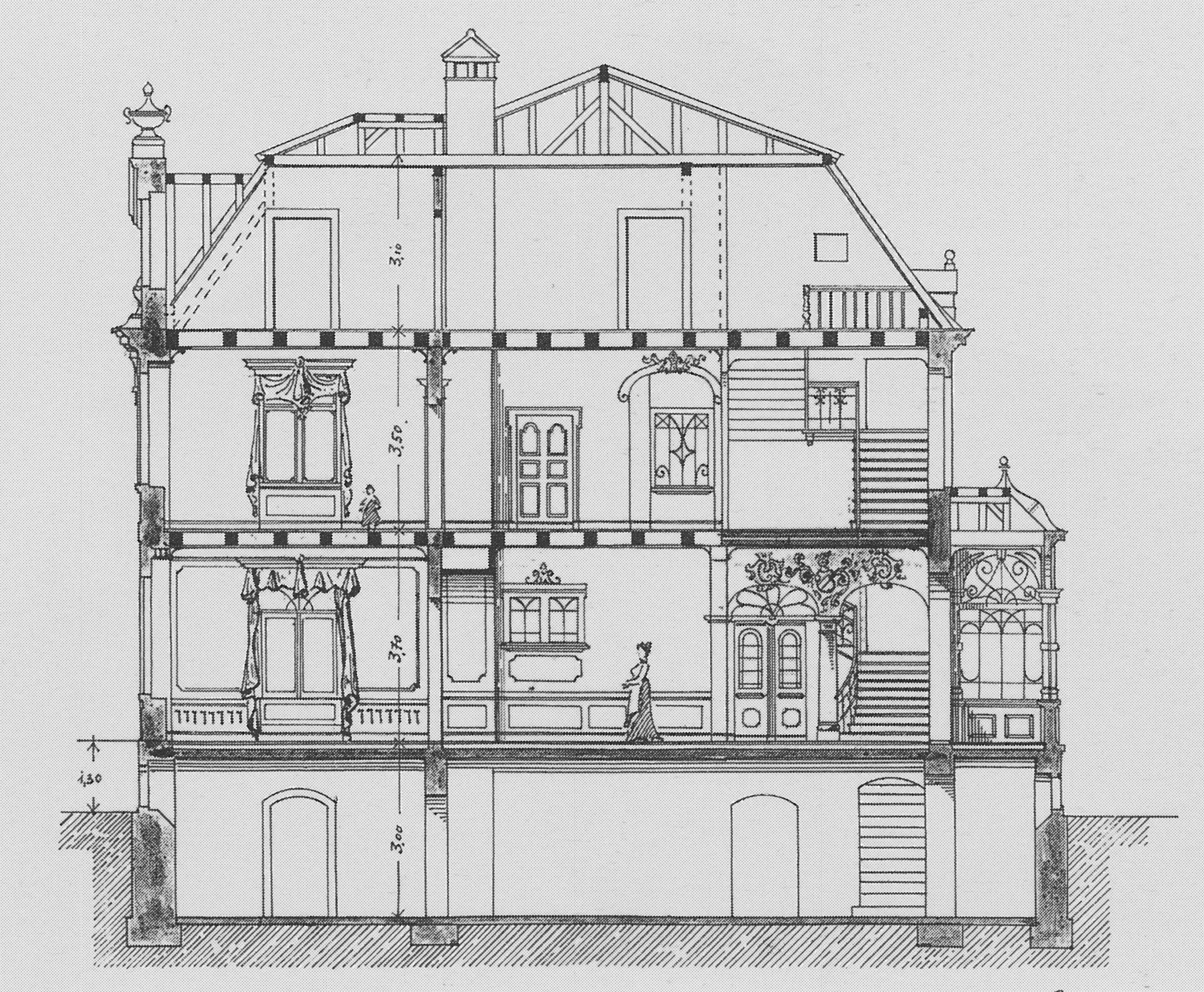 file radebeul villa koebig schnitt wikimedia. Black Bedroom Furniture Sets. Home Design Ideas