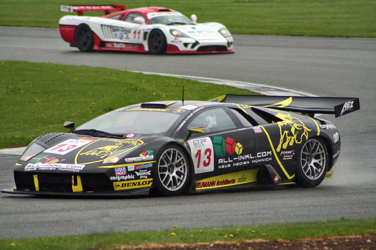 A Murcielago R-GT participating in the FIA GT Championship at Silverstone in 2006.