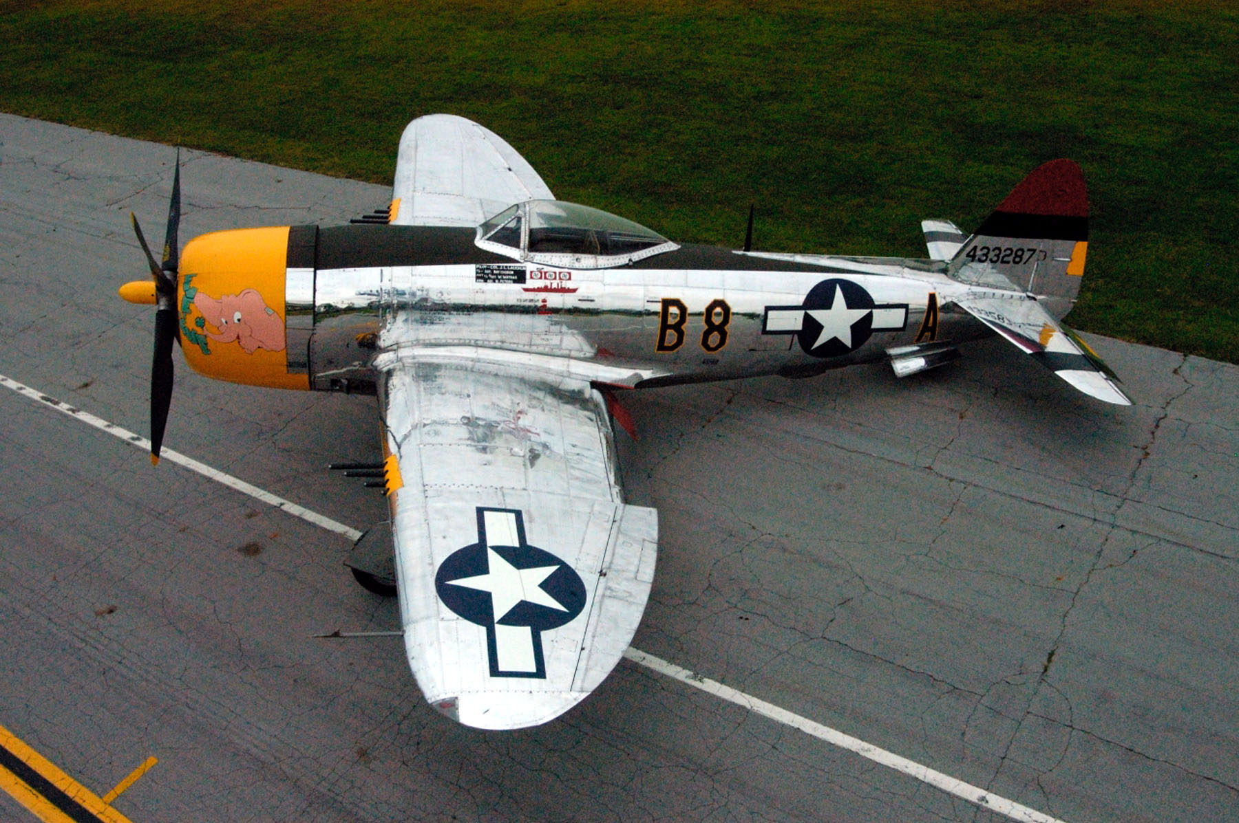 P-47D-40RA 45-49167 Five by Five at US Air Force Museum