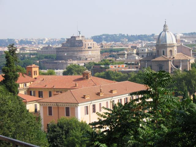 Castel Sant'Angelo from the Gianicolo Hill (wikimedia.org)