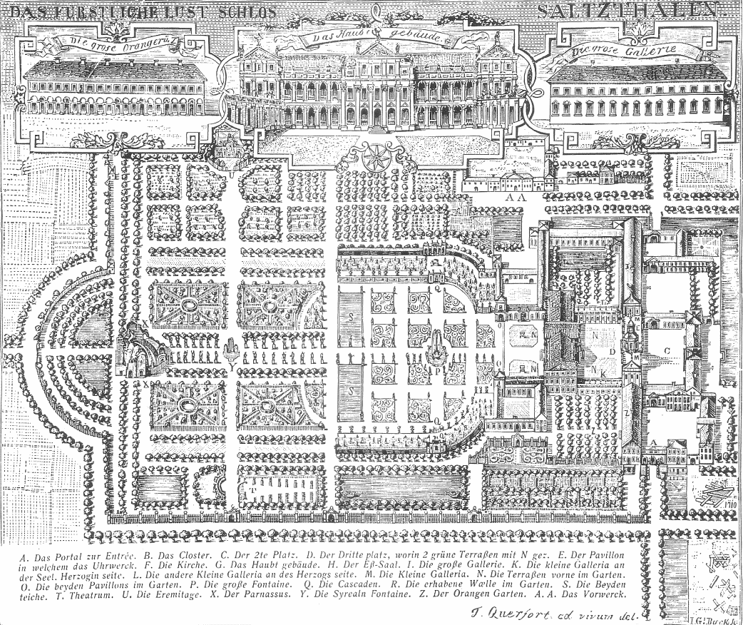 Plan of the palace of Salzdahlum