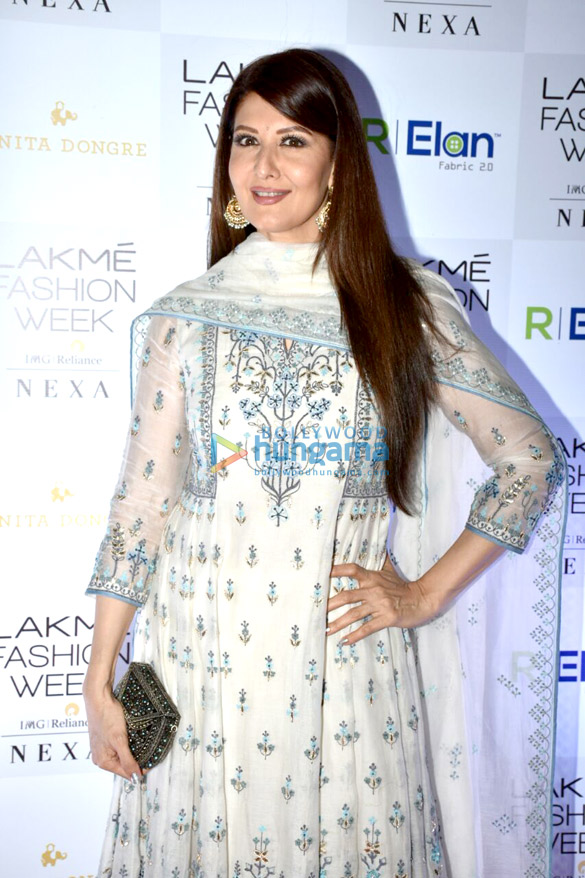 File:Sangeeta Bijlani arrives at Anita Dongre's show at