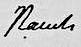 Signatur Christian Daniel Rauch.PNG