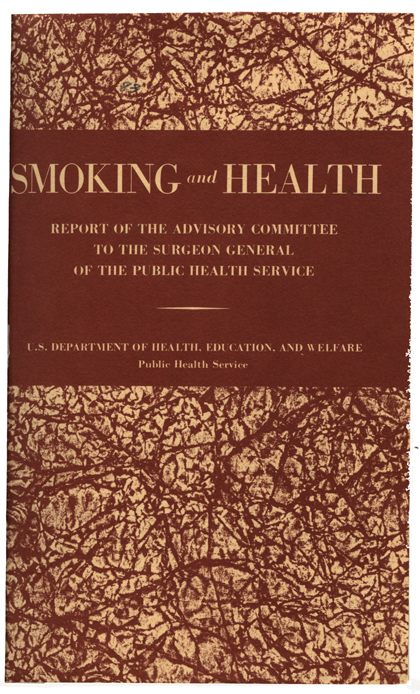 smoking report On january 11, 1964, luther l terry, md, surgeon general of the united states , released smoking and health: report of the advisory committee of the surgeon general of the public health service this was the first in the series that is now generally referred to as the surgeon general's reports.