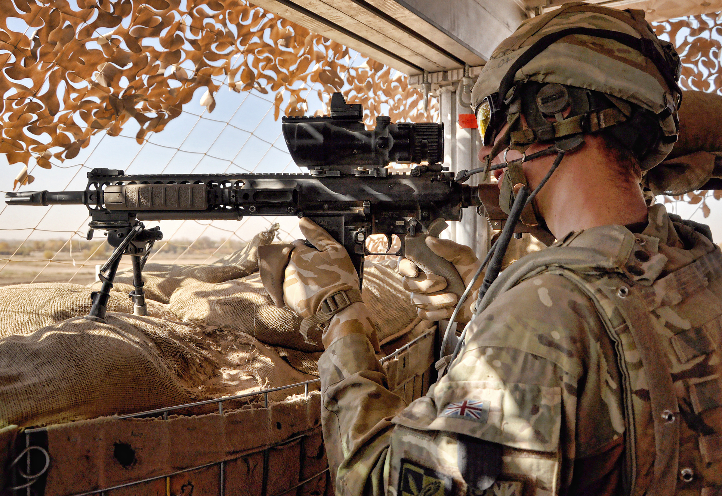 Description soldier keeps watch over route trident afghanistan jpg