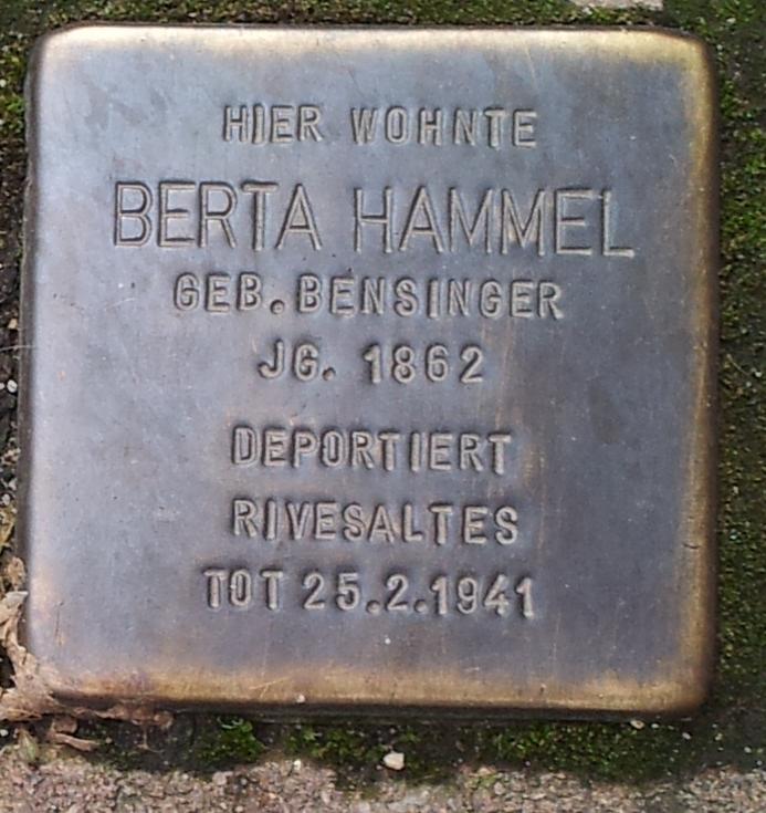 Stolperstein Berta Hammel Offenburg.jpg