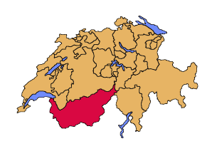 Localization of the canton of Valais