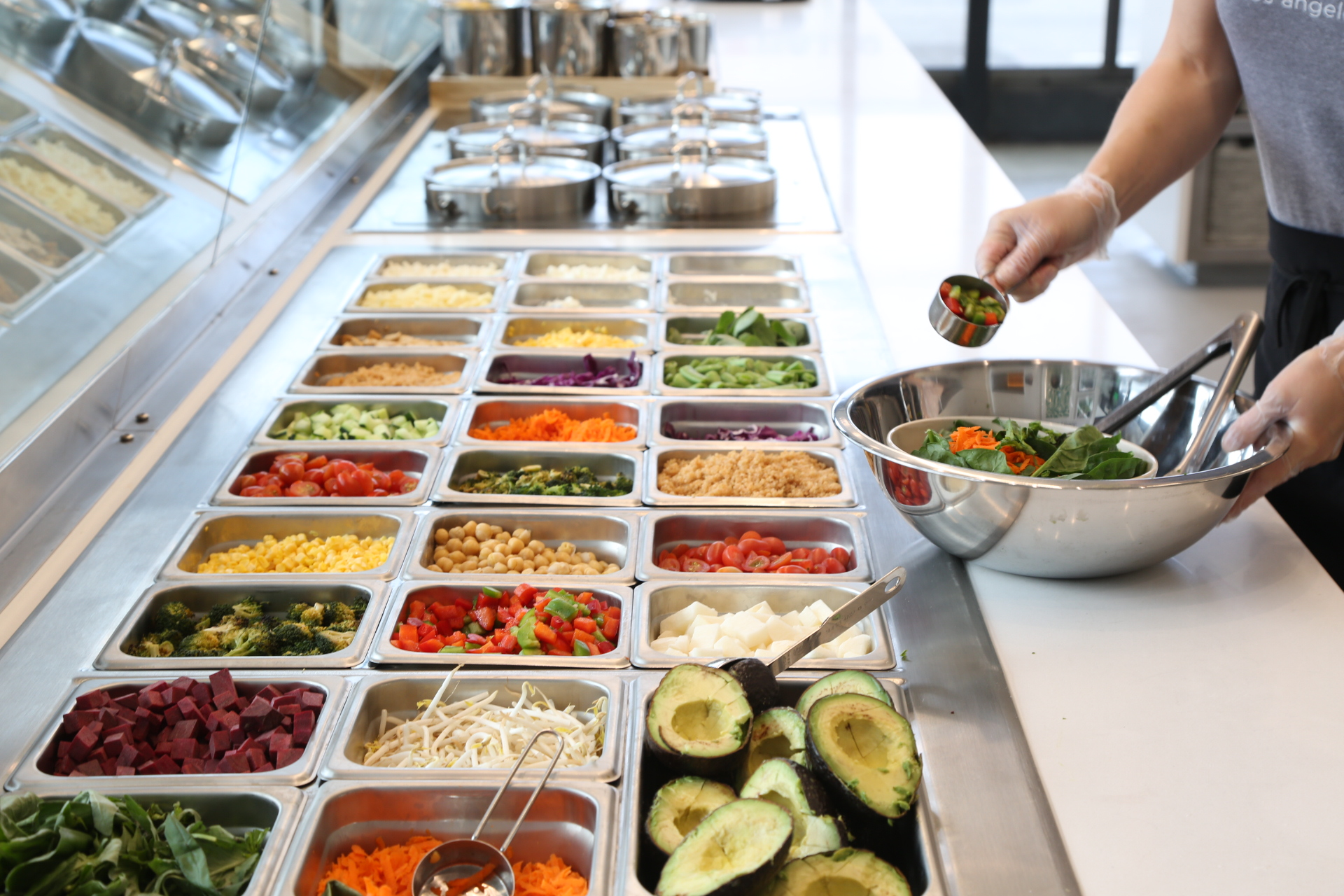 The line features over 30+ items that rotate all year long. Customers can choose from the 8 signature salads, 3 seasonal salads or customize and make their own.