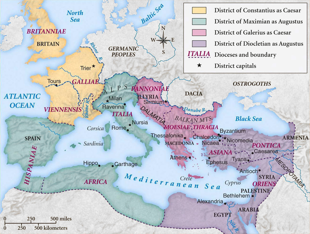 Ancient Roman Empire Cities Map Map of The Roman Empire Under