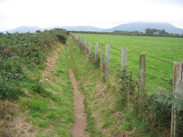 The Llŷn Coastal Path-Llwybr Arfordir Llŷn above Porth Dinllaen bay - geograph.org.uk - 950176