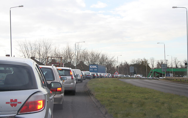 Traffic jam on the Thurmaston By-pass - geograph.org.uk - 133521