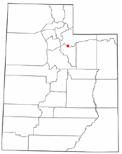Location of Woodland, Utah
