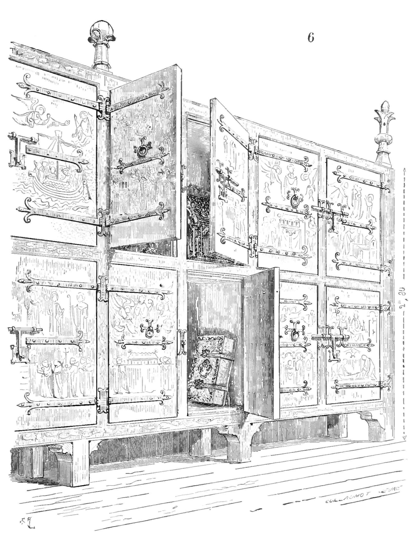 Fichier viollet le duc dictionnaire raisonn du mobilier - Dessin d armoire ...