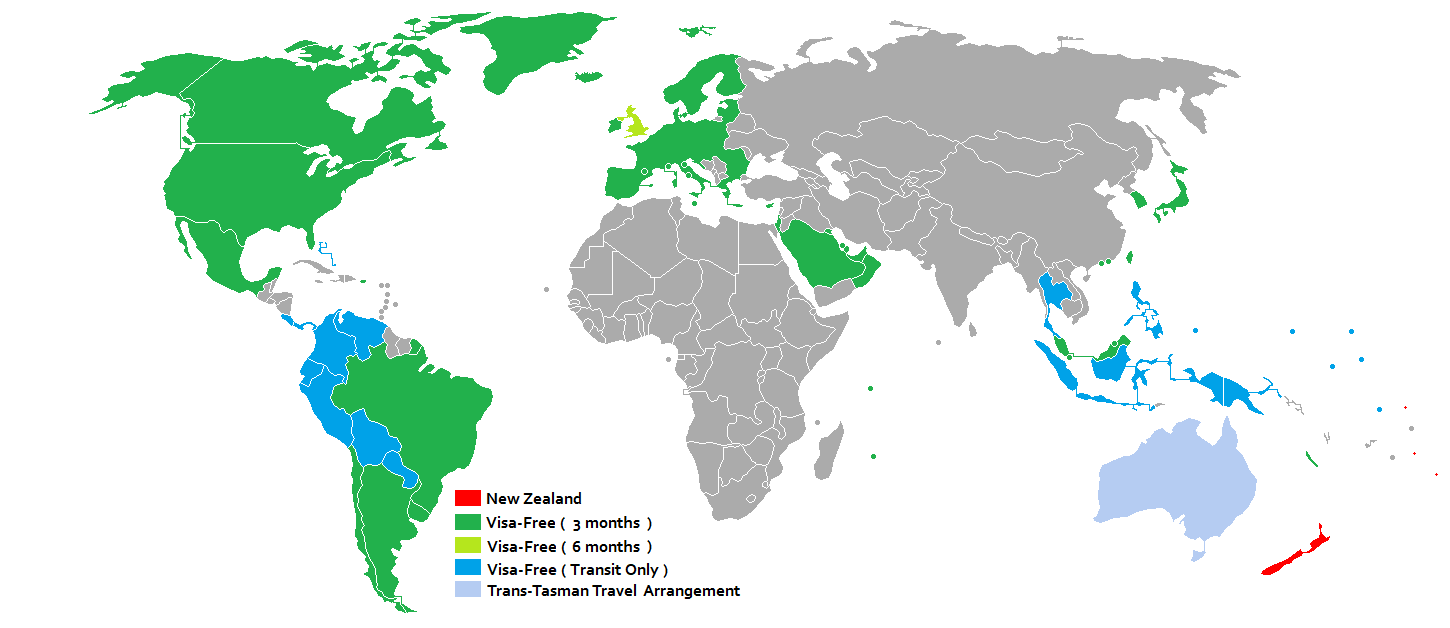 Holders Of Passports Of These Countries May Travel To New Zealand Without  Obtaining A Visa New
