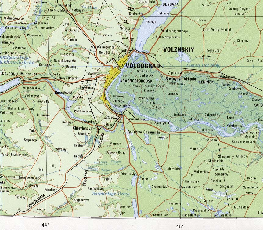 City map Volgograd