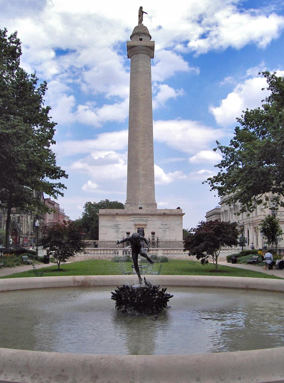 Madison Erects Giant Phallic Tower To >> Washington Monument Baltimore Wikipedia