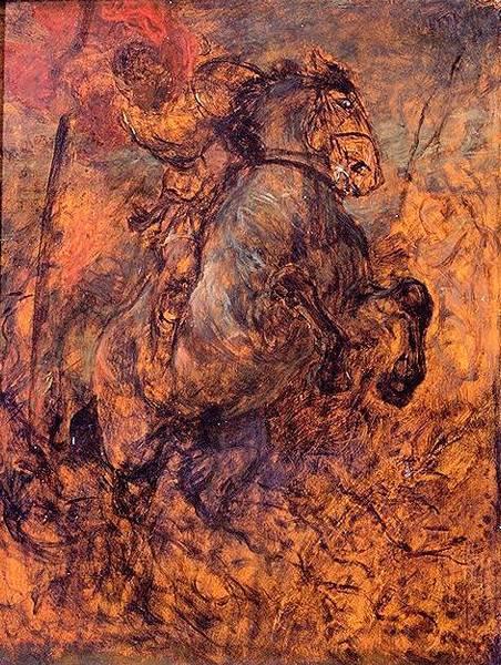 Wilhelm von Diez Święty Jerzy, zabijający smoka, 1897