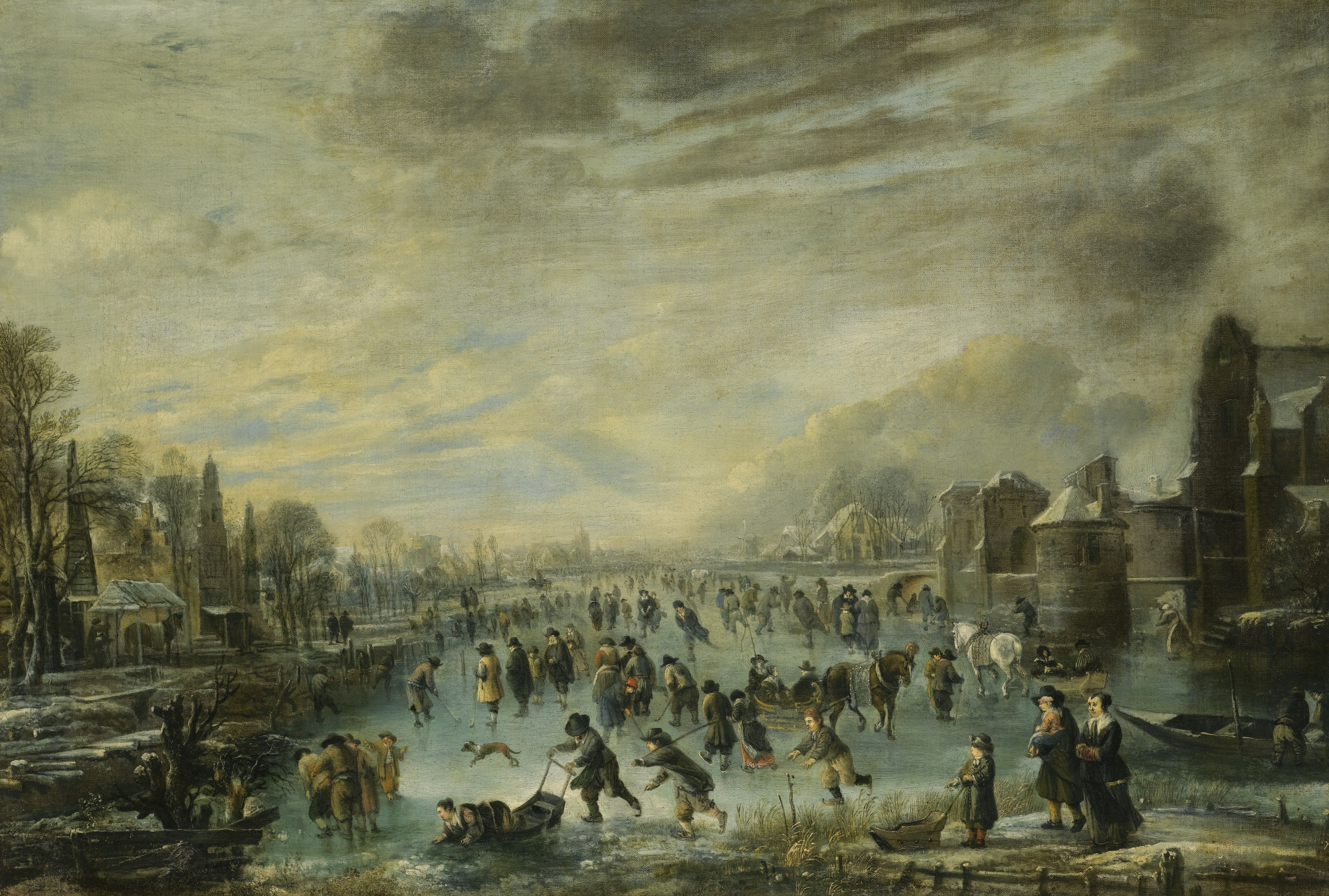 Landscape Oil Painting Signed Aeg