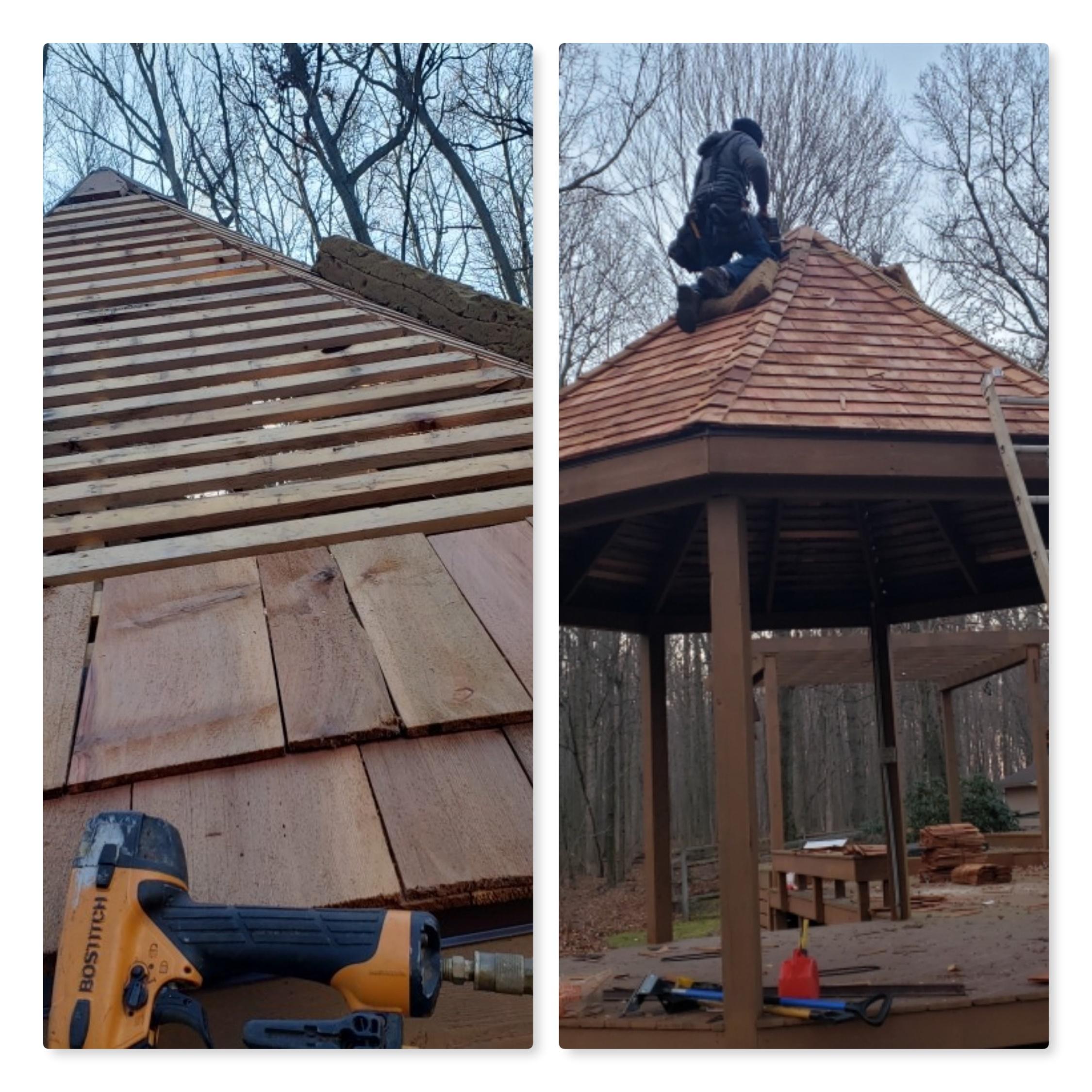 File Wood Shingle Roof Installation Jpg Wikimedia Commons