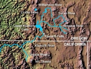 Upper Klamath Lake map.