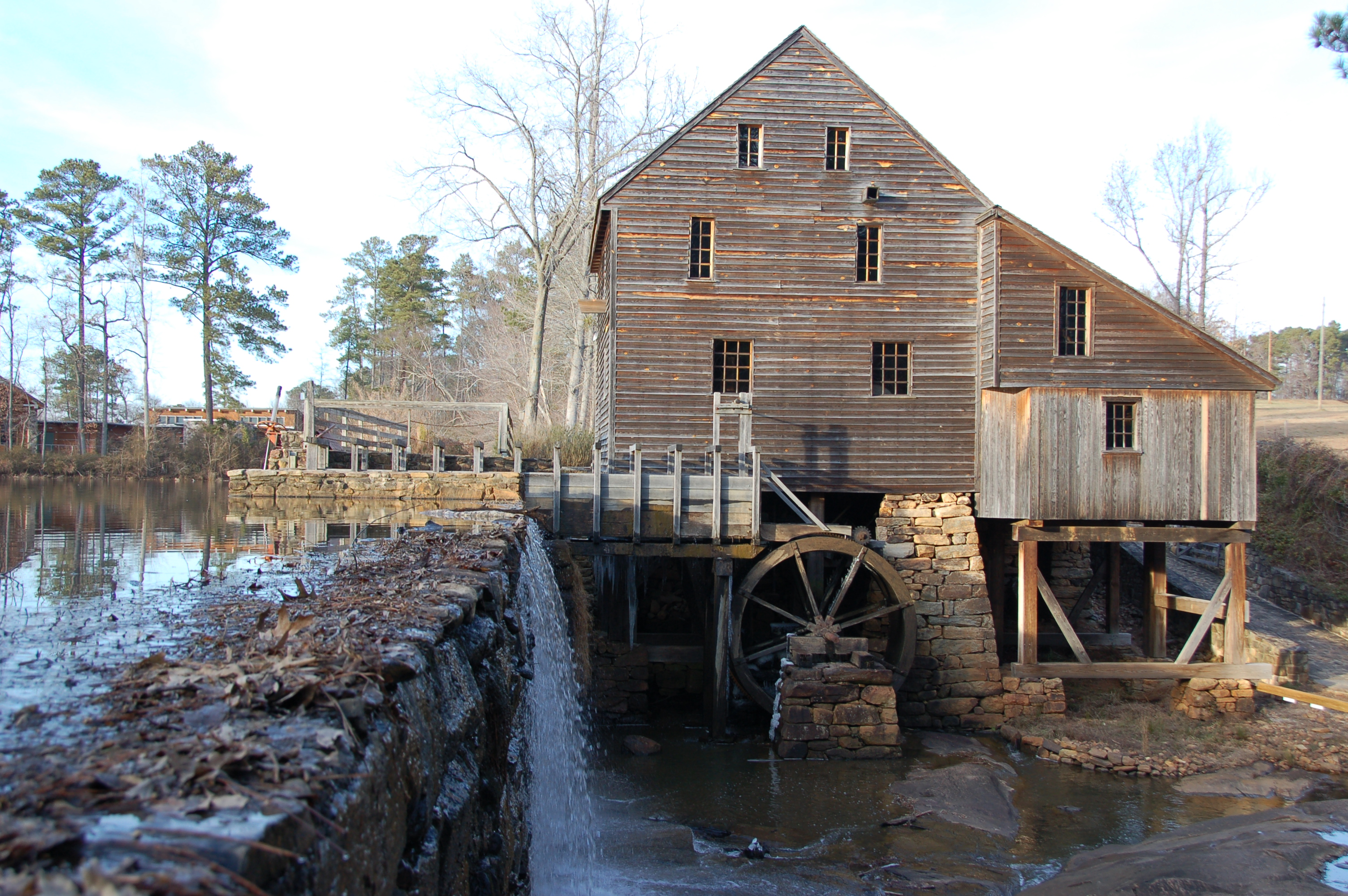 FileYates Mill at Yates Mill Pond Park eg Wikimedia