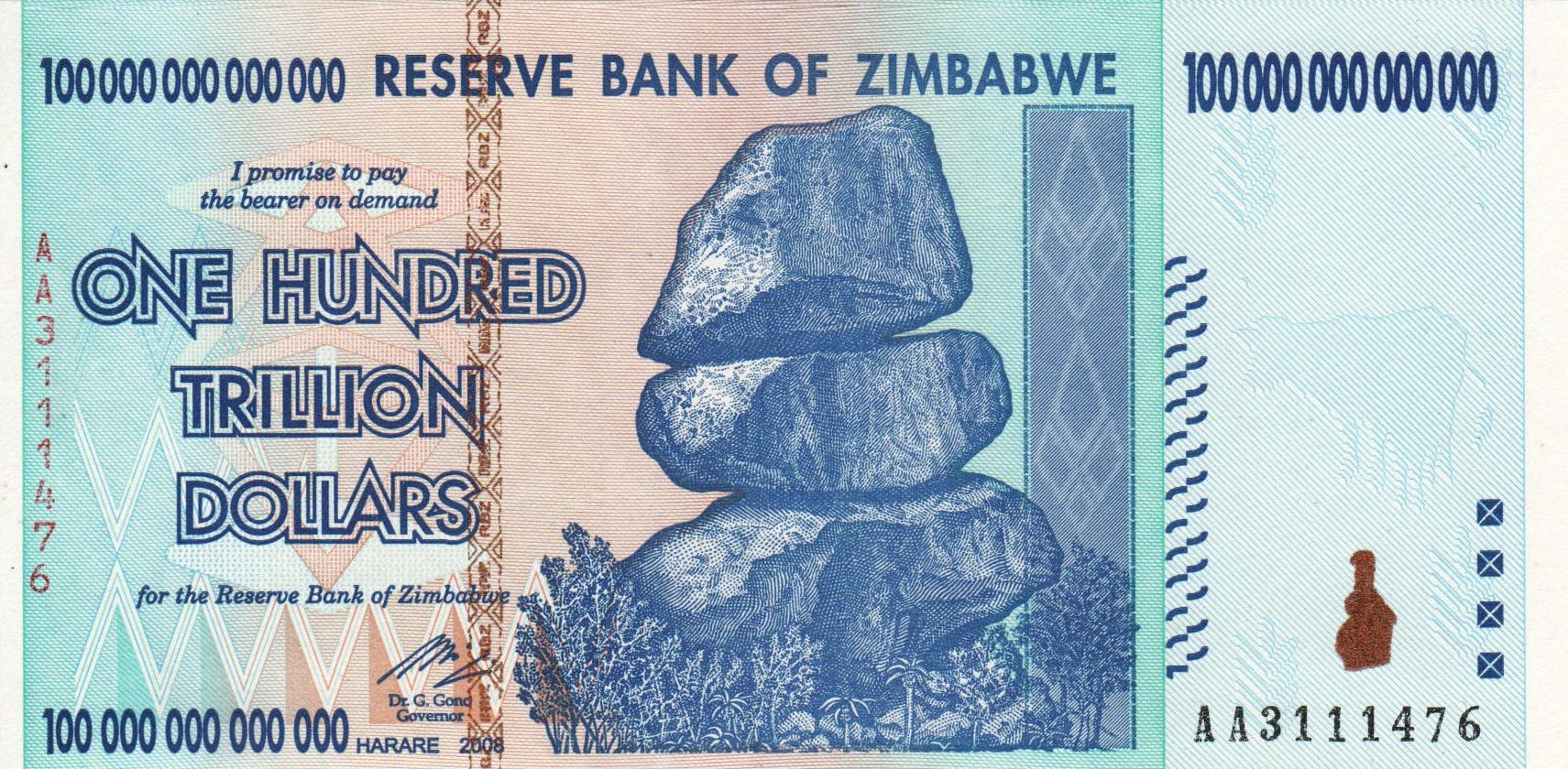 Risultato immagini per zimbabwe dollar