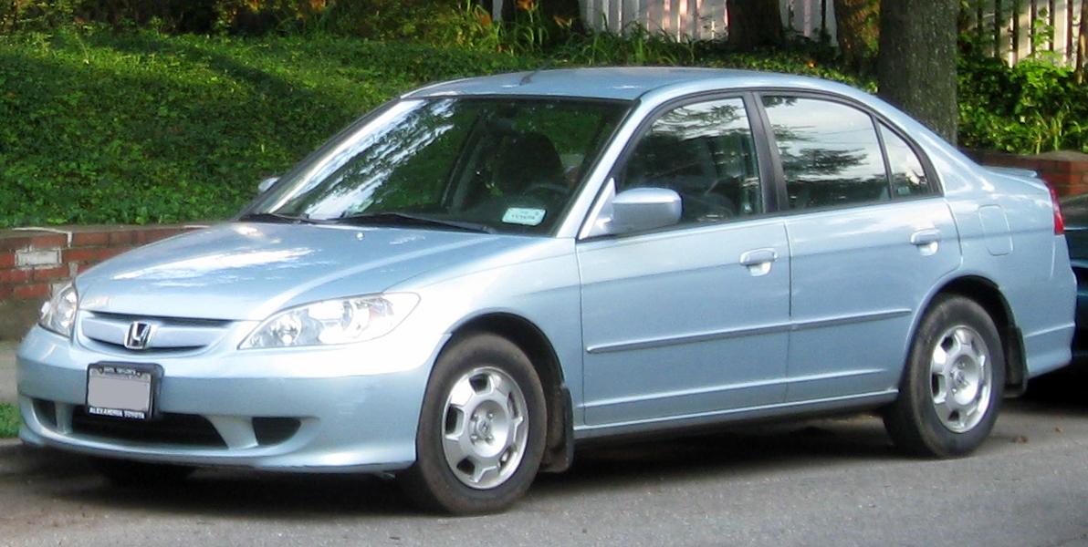 Honda Civic Blue >> File:04-05 Honda Civic Hybrid .jpg - Wikimedia Commons