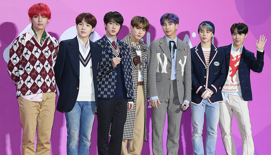 BTS at the MelOn Music Awards 2018