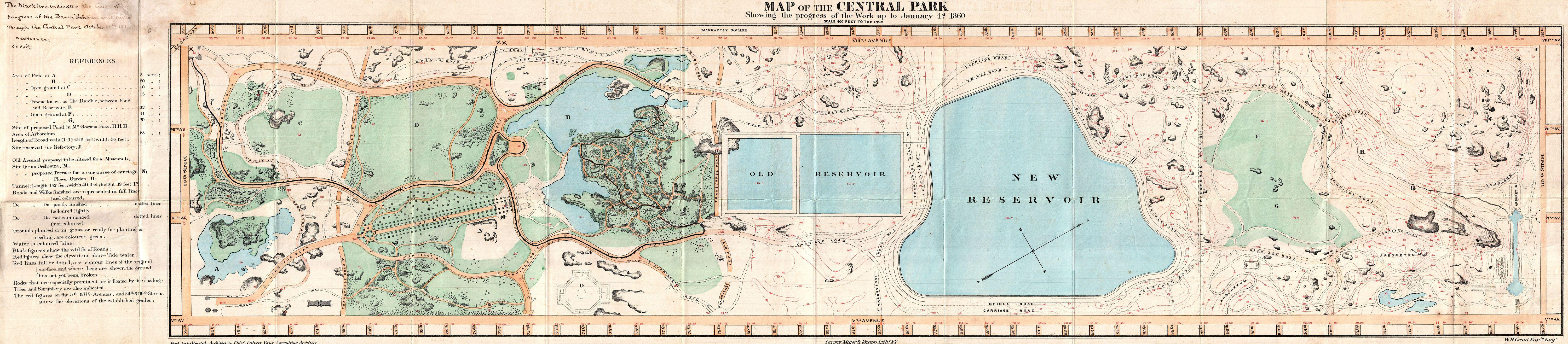 File 1860 Pocket Map of Central Park New York City Geographicus CentralP