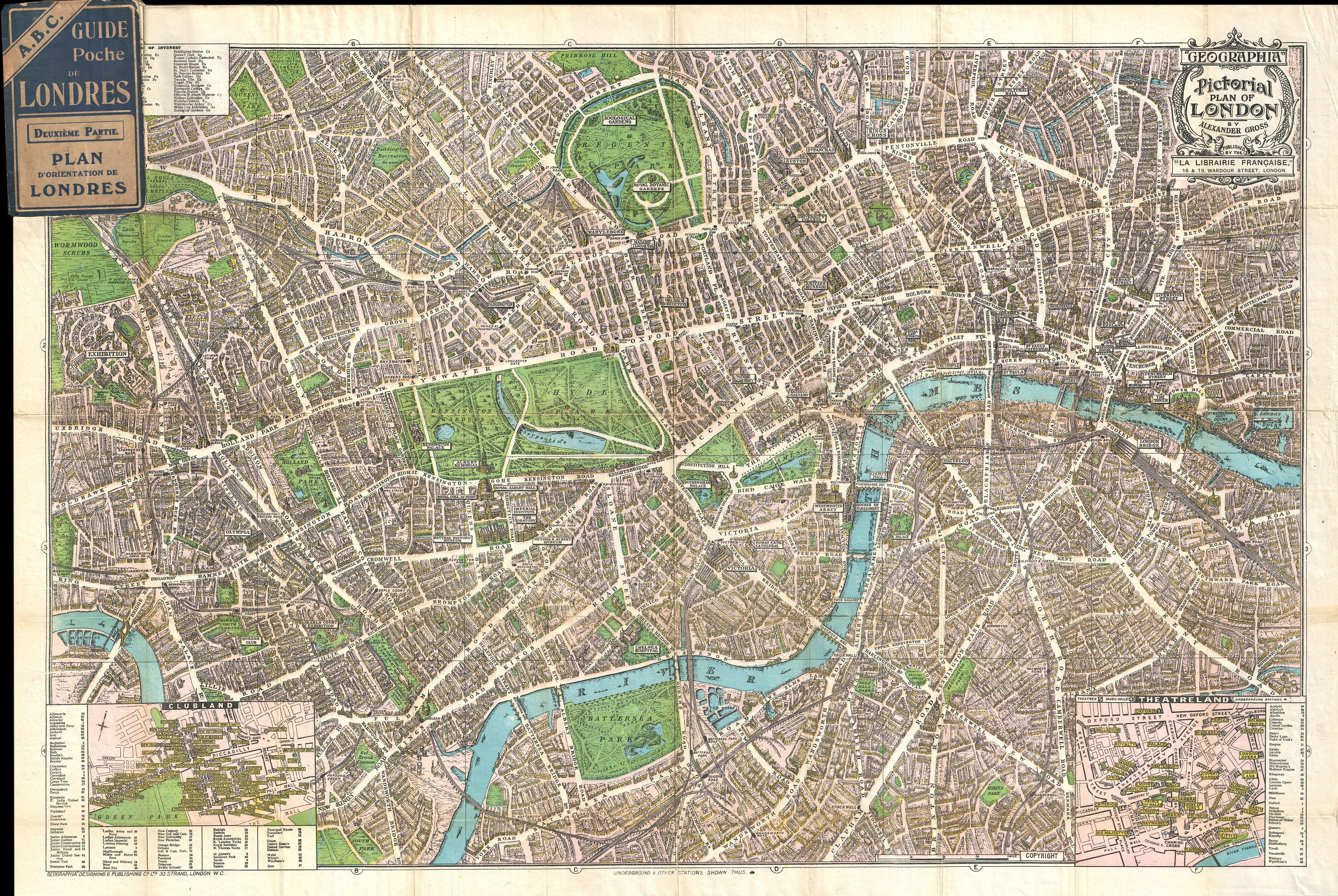 file1924 geographia pictorial map of london england geographicus london geographia