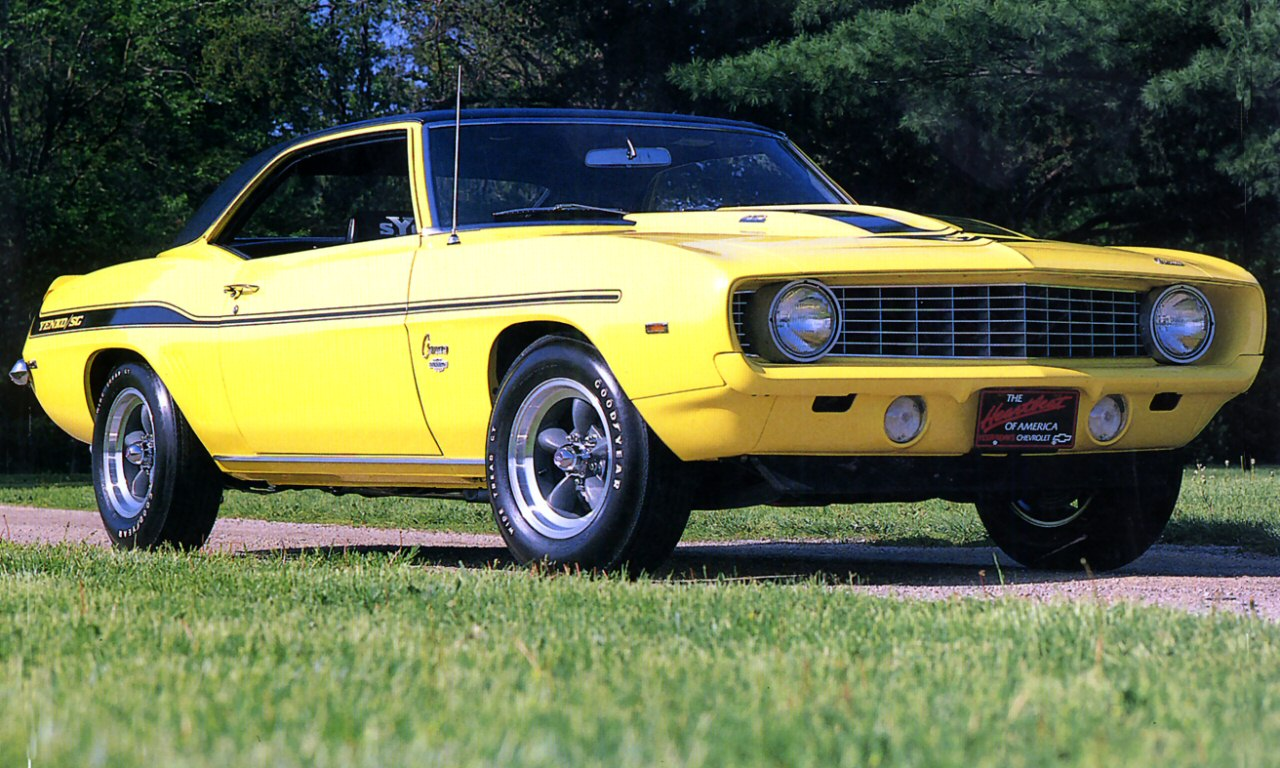 File 1969 Chevrolet Yenko Camaro 427 Yellow Low Frt Qtr