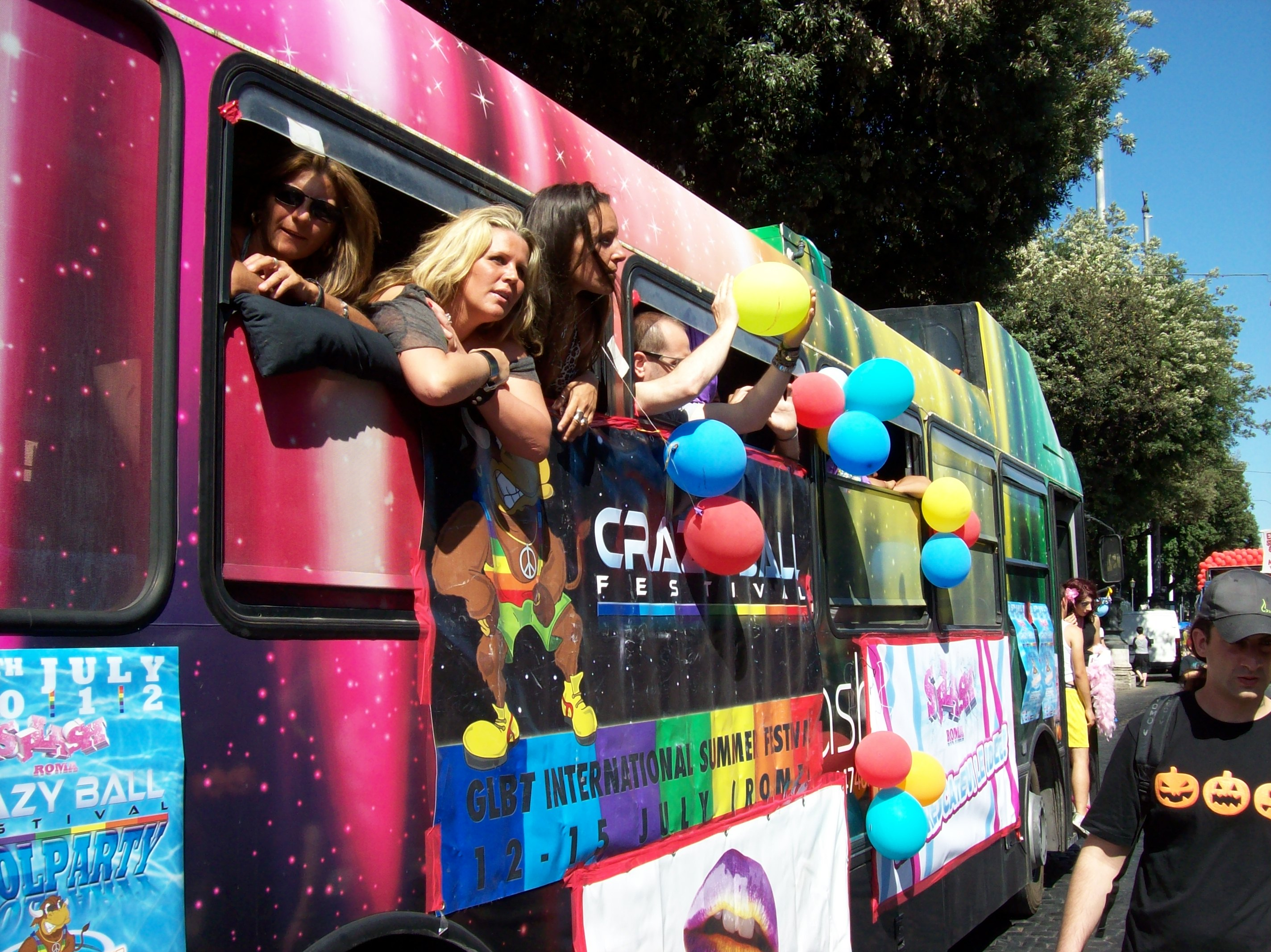 gay pride bus
