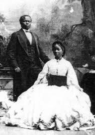 Un retrato de James Pinson Labulo Davies y Sara Forbes Bonetta, fotografiado en Londres en 1862 por Camille Silvy